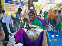 Distribution of Hygience material in various villages
