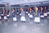 Ahilya Sangha volunteers being trained in the ancient Indian Martial Arts (1)