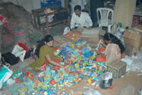Segregation and Packing of Candles and Matchboxes in Progress (Shree Harigurugram)