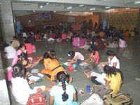 Students engrossed in various extra-curricular activites