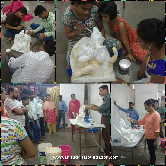 Aniruddha Foundation-Eco-Friendly Ganesh Workshop Bandra 21st May 2017