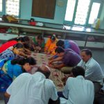 AniruddhaFoundation-Quilt-Training-Nanded-Shraddhavaans sewing quilts during training