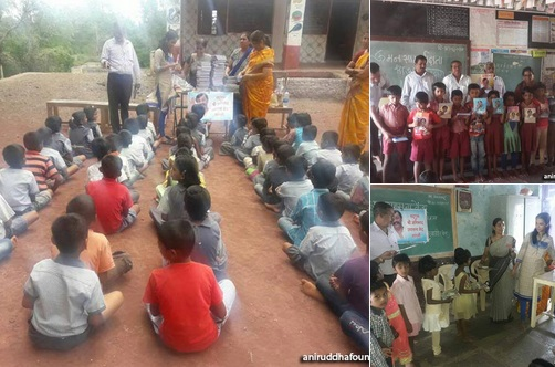 AniruddhFoundation-Distribution of Notebooks Sangli-June 27, 2017