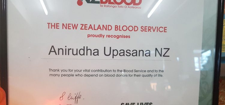 Blood Donation Camp at New Zealand Centre