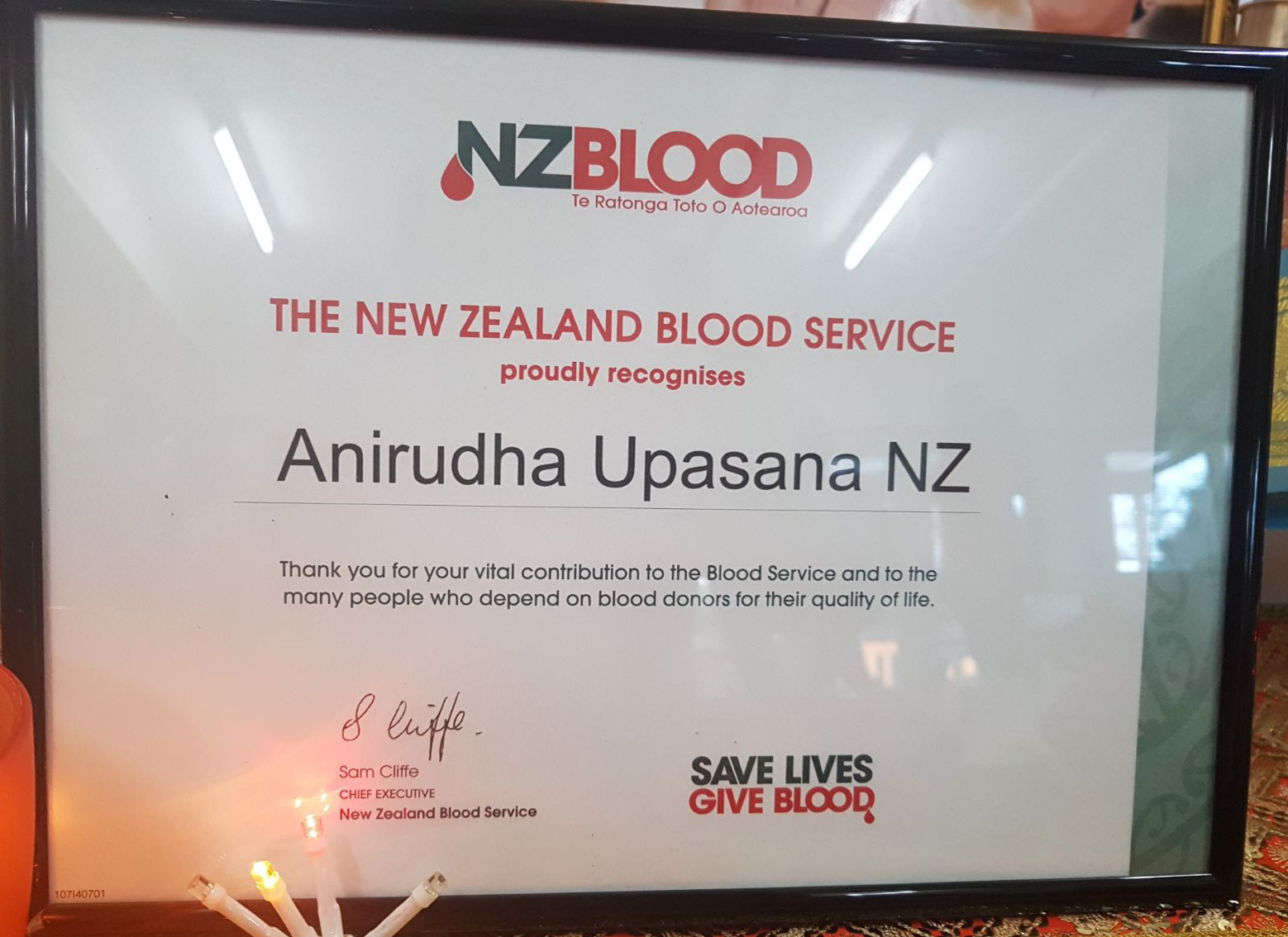 Aniruddha Foundation- Aniruddha Upasana Centre New Zealand Blood Donation Camp