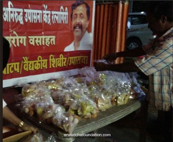 Distribution of Diwali sweets