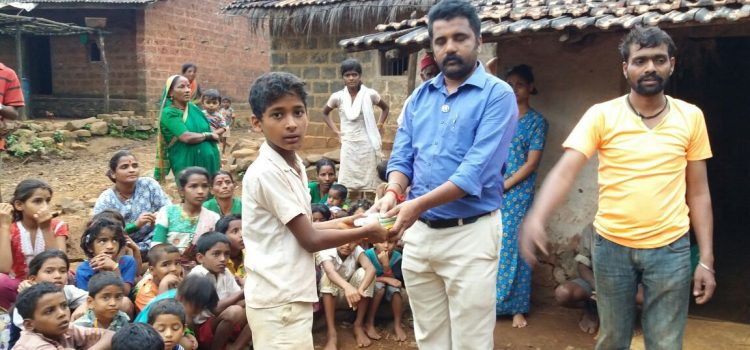 Distribution of Hygiene & Cleaning material at Kolhapur