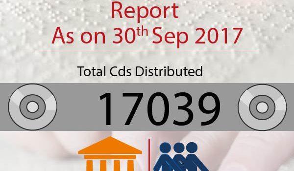 Aniruddha's Bank for the Blind CD Distribution-Sept 2017