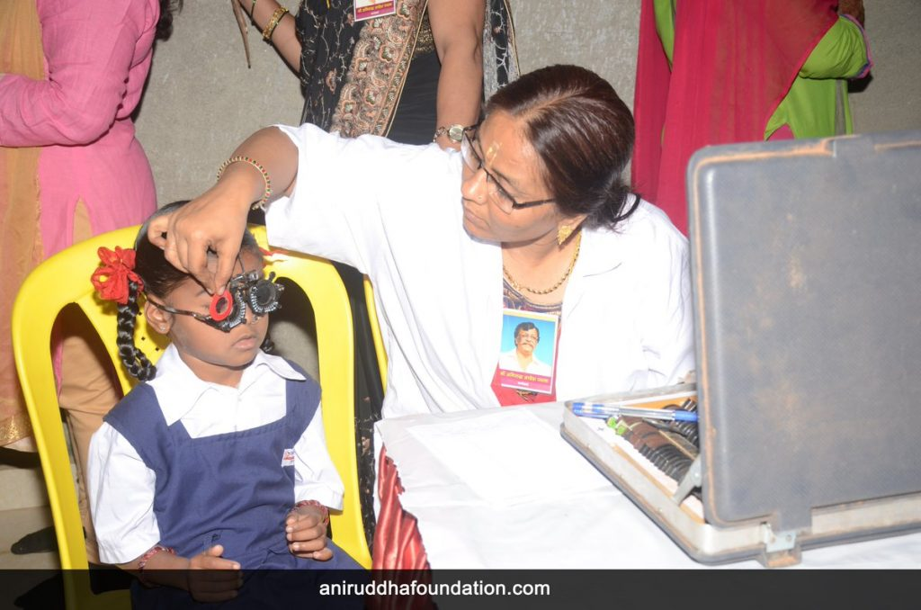 AniruddhaFoundation-Eye Checkup and Vitamin distribution camp' for school children at Virar