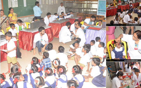 Eye Checkup and Vitamin distribution camp' for school children at Virar