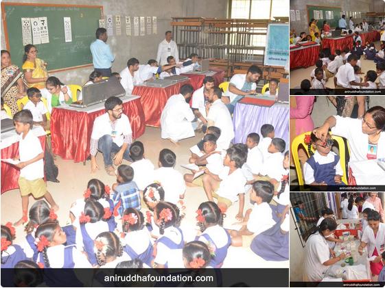 AniruddhaFoundation-Eye Checkup and Vitamin distribution camp' for school children at Virar