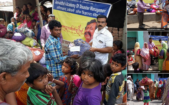 Distribution of clothes at Nandurbar