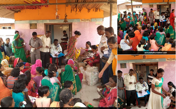 Distribution of hygiene material at Ichalkaranji